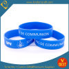 China Customized Logo Blue Silicone Wristband for Promotional Gifts