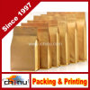 Food Grade Flat Bottom Brown Kraft Paper Bags with Tear Zipper (220083)