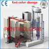 High Quality Fast Color Change Powder Booth -Big Cyclone Recovery System