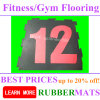 15mm Thick EPDM Crossfit Gym Rubber Flooring Surface Drawing Design