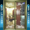 Champagne Aluminium Interior Hanging Door with Double-Layer Glasses