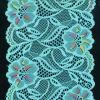 Blue Flower Cotton Lace Fabric for Ladies Dress#05241