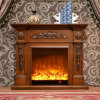 Simple European Carving LED Lights Heating Electrical Fireplace (322)