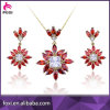 Butterfly Wholesale Fashion Yellow Gold Jewelry Set in Latest Design