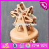 Handmade Funny Waterwheel Shape Kids Wooden Small Music Box W07b038