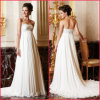 Strapless Chiffon Formal Gown Embroidery Empire Wedding Dress (H033)