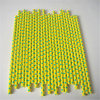 Yellow & Green Polka DOT Paper Straw for Party