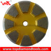 8 Beveled Segment 3 Hole Grinding Pucks for Concrete Floor