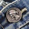 Custom Logo Metal Alloy Jean Shank Button