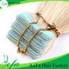Excellent Quality 100% Natural Unprocessed European Hair Blonde Tape Human Hair Extension