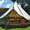 High Quality Waterproof Luxury 4m Cotton Canvas Bell Tent Best Camping Tent