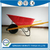 6 Cu. FT. Heavy Gauge Steel Wood Handle Wheelbarrow
