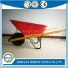 6 Cu. FT. Heavy Gauge Steel Wood Handle Wheelbarrow