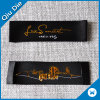 Balck with Gold Logo Wholesale Custom Labels for Clothing