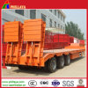 Hydraulic Rear Ramp Construction Machinery Transporting Low Bed Trailer