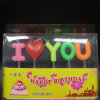 English Letters Birthday Candles with I Love You