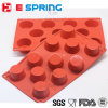 Newest Design 11 Cavities Muffin Cup Silicone Cake Mold Baking Mould