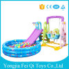 Plastic Indoor Kids Toys Slide, Swing with Inflatable Ball Pool for Sale