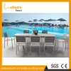 Comfortable Anodized Aluminum with Plastic Wood Restaurant/Hotel/Banquet/Dining/Conference Table Sets Outdoor Wicker Furniture