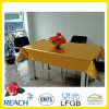 Metal PVC Tablecloth Overlay with Gold and Emboss Design in Roll Factory
