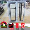 Wood Grain UPVC Frame Double Glazed Window Grill Design