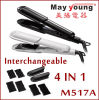 4 in 1changeable Plate Design Hair Straightener