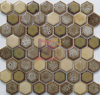Hexagon Brown Special Pattern Fireplace Ceramic Mosaic Decoration (CST296)