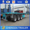 40FT 3axle Flatbed Semi Trailer (carry 1*40′, 2*20′ & 1*20′ container)