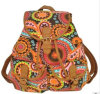 Colorful Printed Canvas Backpack School Bags