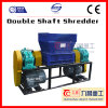 Double Shaft Shredder for Shredding Tire Plastic Glass Rubber with Ce
