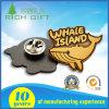 Custom Whale Shape Metal Hard Enamel Pin Badges No Minimum