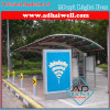 Bus Stop Shelter with Scrolling Sign