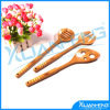 Set of 3 Bamboo Spoon Fork Spatula with Holder