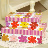 Flower Printing Paper Gift Box with Lid