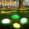 Solar Light of LED RGB Ball Cubes Stone for Garden Park