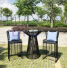 Modern Black Outdoor Balcony Garden Tea Shop Hotel Bar Leisure Simple Dining Table and Chair