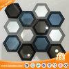 American Style Big Hexagon Edging Mirror Glass Mosaic (M855411)