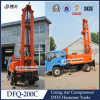 Truck Air Compressor Top Drive Water Drilling Rig for 200m Depth