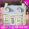 New Design Children Solid Wood Victorian Dolls House W06A236