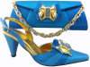 Fashion Women Shoes Match Bag Csb1017- Blue