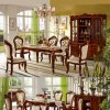 Wood Dining Furniture with Dining Table and Dining Sofa Chair