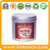 Round Chocolate Tin Can with Food Grade, Metal Candy Tins