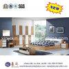 Oak Color Home Wooden Bed Modern Bedroom Sets Furniture (SH-008#)