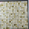 Hot Sale Yellow Color Marble Mixed Glass Mosaic for Bathroom Wall