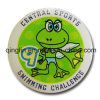Custom Promotional Screen Printing Metal Tinplate Badge with Pin (QL-MKT-0010)