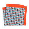 Fashionable Silk Polyester Dots Printed Pocket Square Hanky Handkerchief (SH038 a)