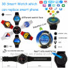 Round Screen 3G Heart Rate Smart Watch with 8g ROM Dm368