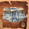 New Fashion Design Ladies Denim Jean Dustord Embroider Shorts (HDLJ0002)