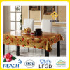 Vinyl Plastic Table Cover with Golden Overlay