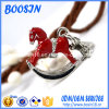 Fashion Emerald Alloy Horse Pendant for Necklace or Keychain